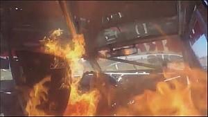 Se Prende Fuego en el Auto del Tc Mouras - La Plata 2016