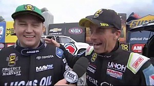 Crampton & Millican Top End interview after final qualifying #NHRA