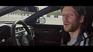 Grosjean takes Smart Cone challenge in Jaguar XF
