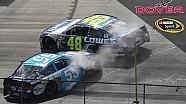 Johnson, Harvick avoid damage from a spinning Sorenson