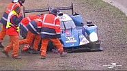 24H du Mans - Crash de l'Alpine n°35