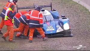 24u Le Mans: Alpine #35 crash