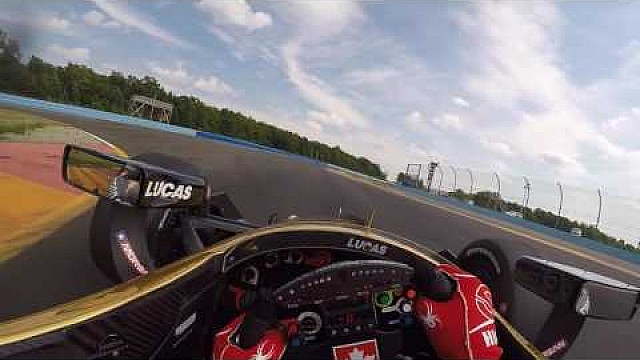IndyCar home theater en el coche: Visera Cam con James Hinchcliffe en Watkins Glen International