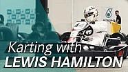 Lewis Hamilton goes karting ahead of the F1 British GP