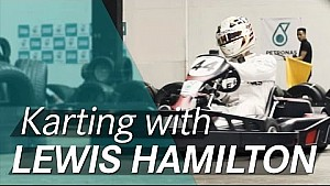 Lewis Hamilton goes karting ahead of the F1 British GP