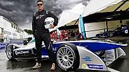 Luke Evans Driving A Formula E Car!