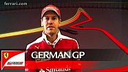 The German GP with Sebastian Vettel - Scuderia Ferrari 2016