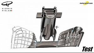 Giorgio Piola - McLaren's 2017-concept voorvleugel