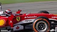 Sebastian Vettel & Kimi Raikkonen Finali Mondiali'de lastik yakıyor