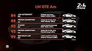 24h Le Mans 2017: Starterliste, GTE-Am