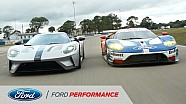 The Ford GT Race Car Meets the Road Car | Ford GT | Ford Performance