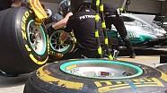 Práctica de pit stop en la F1