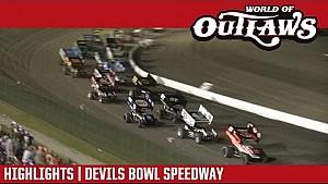 World of Outlaws Craftsman sprint cars Devils Bowl speedway April 15, 2017 | Highlights