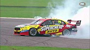 Chaz Mostert's winning burnout in race 6