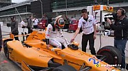 De Indy 500 test van Fernando Alonso