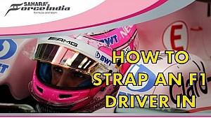 Así se asegura a un piloto en su asiento con Esteban Ocon y Harry Rush