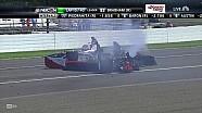Авария Чейза Остина в гонке Indy Lights на «Индианаполисе» в 2014 году