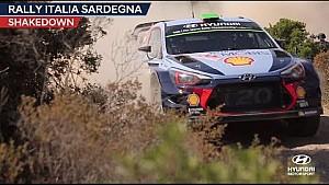 Rally Italia Sardegna Shakedown - Hyundai Motorsport 2017