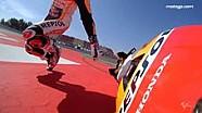 Marc Marquez terjatuh di FP3 Catalunya - Onboard