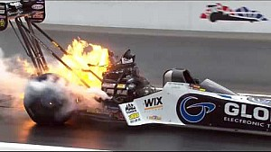 Shawn Langdon suffers HUGE engine explosion in Bristol