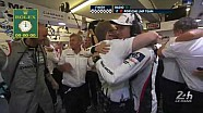 The Porsche LMP #2 wins the 85th edition of the 24 hours of Le Mans
