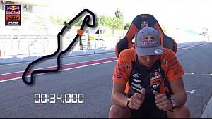 Pilotos de Ajo Motorsport en un tour en Assen con los ojos cerrados
