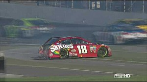 Kyle Busch and Martin Truex Jr. crash | Brickyard 400