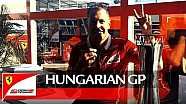 Hungarian Grand Prix - Seb's words to the fans after the win