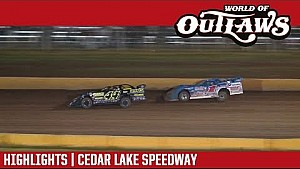 World of Outlaws Craftsman late models Cedar Lake speedway August 4, 2017 | Highlights