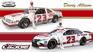Davey Allison honored on Corey LaJoie's Darlington scheme