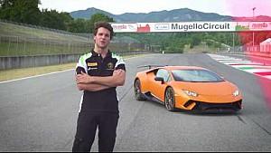 Lamborghini Accademia tutorial video: fast chicane at Mugello with Huracán Performante