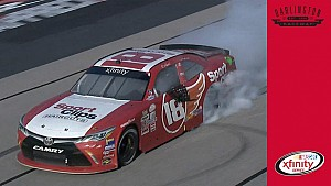 Denny Hamlin burns it down after dramatic win at Darlington