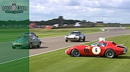 Zeldzame Ferrari 250 GTO/64 crasht op de Goodwood Revival