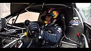Sébastien Loeb à Turckheim au volant de la Peugeot 208 T16 Pikes Peak