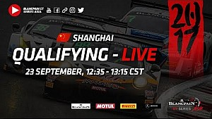 Blancpain GT Series Asia - Shanghai - Qualifying
