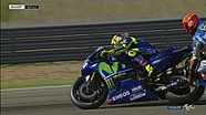 Kecelakaan Rabat-Rossi saat warm-up #AragonGP