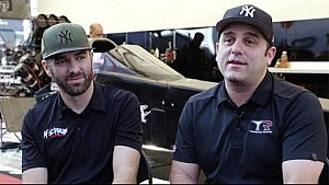 Behind the visor with the Lagana brothers