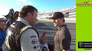 Ryan Newman confronts Jeff Gordon on pit road after Dover race