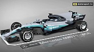 Mercedes W08 updates: bargeboards en diffusers