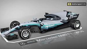 Mercedes W08 updates: bargeboards en diffusers