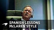 Lezioni di spagnolo in stile McLaren