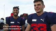Max Verstappen and Daniel Ricciardo play American Football, Austin, USA, 19/10/2017