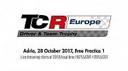 2017 Adria, TCR Europe Trophy free practice 1