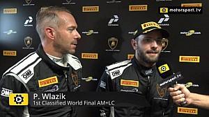 Lamborghini Super Trofeo World Final AM+LC Race 1 - Interview with Wlazik and Scholze