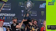 Truex Jr. hoists championship trophy with pride