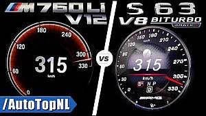 Дуель S63 AMG vs BMW M760Li 0-315 км/год