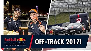 Red Bull: Verstappen und Ricciardo neben der Strecke