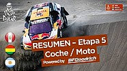 Resumen - Coche/Moto - Etapa 5 (San Juan de Marcona / Arequipa) - Dakar 2018