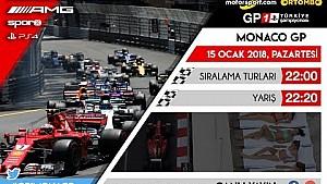 F1 2017 GP1 Türkiye Şampiyonası #6 Monaco GP - CANLI YAYIN