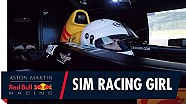 Sim Racing girl takes on Red Bull racing's F1 simulator